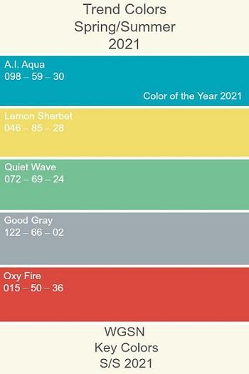 5 cores do verão 2021