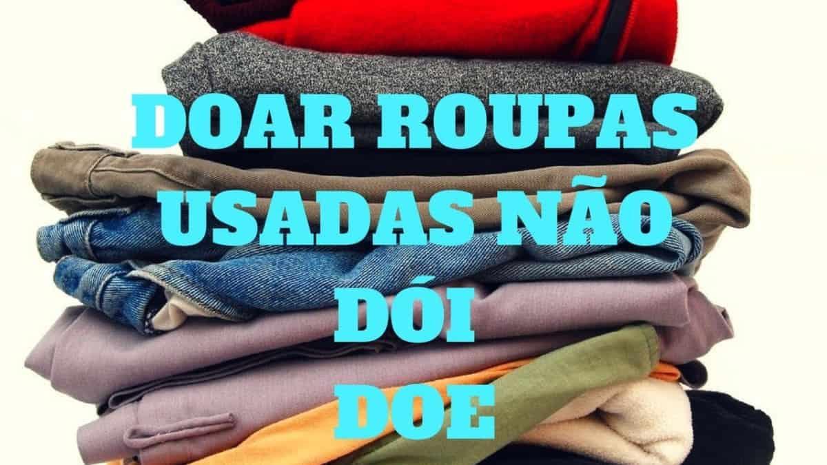 Doe suas roupas
